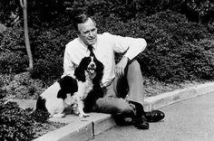 George H. W. Bush & Millie  The springer spaniel's book, Millie's Book, ghost-written by First Lady Barbara Bush, outsold her master's biography.