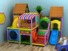 indoor play structure soft contained playground