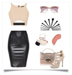 """""""nude"""" by my-fashion-paradise ❤ liked on Polyvore featuring Topshop, Jimmy Choo, River Island, By Terry and NYX"""