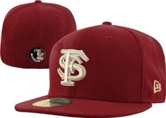 "NCAA Florida State Seminoles College 59Fifty by New Era. $13.19. wool. 100% Wool. This 59Fifty® Fitted Cap Features An Embroidered (Raised) Florida State University Seminoles® Logo On The Front, Stitched New Era® Flag At Wearer'S Left Side, And Embroidered  ""Seminoles"" Logo On The Rear. Interior Includes Branded Taping And A Moisture Absorbing Sweatband."