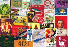 CUTOUT Set 93 - Milk Caps - Show Posters - Mixed Media - Scrapbook - Ephemera - Embellishment - Time Saving Grab Bag - Collage - Paper Arts by retrowallart on Etsy