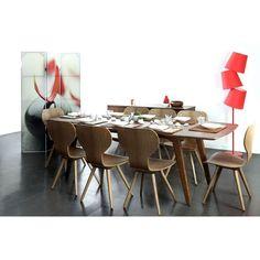 Table à manger design extensible noyer FIFTIES