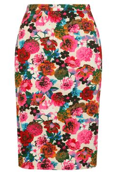 Louche Larue Flower Pencil Skirt -I really need a board just for skirts. Floral Fashion, Look Fashion, Fashion Beauty, Modest Fashion, Skirt Fashion, Looks Style, Style Me, Moderne Outfits, Floral Pencil Skirt