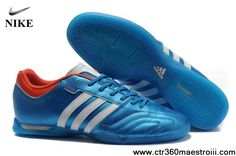 Cheap Discount Adidas Adipure 11Pro TRX IC Bright Blue-Running White-Infrared Football Shoes On Sale