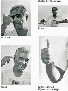 Baba's Mudras as Demonstrated By Eruch B. Jessawala The Awakener Magazine Vol. 21, No. 1, p. 8