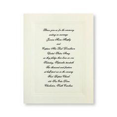 Small Social Graces Wedding Invitations by TheAmericanWedding.com