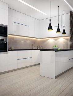White kitchen is never a wrong idea. The elegance of white kitchens can always provide . Elegant White Kitchen Design Ideas for Modern Home Classic Kitchen, Farmhouse Style Kitchen, Modern Farmhouse Kitchens, Home Decor Kitchen, Kitchen Interior, New Kitchen, Kitchen Ideas, Kitchen Modern, Awesome Kitchen