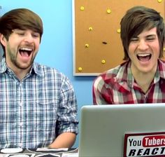 I love watching Smosh on YouTubers React!