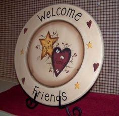 diy decorated plate