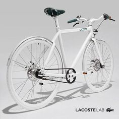 Get around town this summer with the Lacoste Lab Bike. Urban contemporary design, engineered by Look (France).