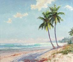 A.E. Backus: Two Palms, Sunny Day (North Beach)