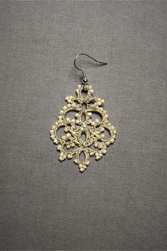 tatted earrings by Anthropologie - no patterns but good idea for pattern and style