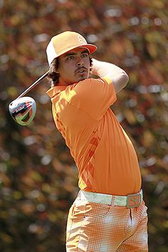 nanea lovesss this guy Rickie Fowler, Mens Golf Outfit, Young Guns, Native American Indians, Golf Clubs, Fan, Mens Fashion, Pigeon, Athletes