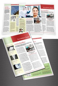 Elegant and fresh InDesign Newsletter template, great as a corporate newsletter or internal mailing.