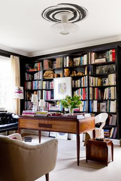Elegant home office and library || @pattonmelo