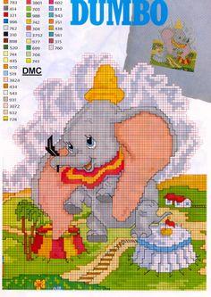 Dumbo as a Baby   Schema Punto Croce Dumbo Baby