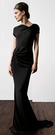 Fabulous! Escada #wedding #dress #black #bridesmaid
