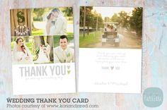 AW002 Wedding Thank You Card. Wedding Fonts. $8.00