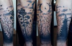Glorious moon tattoos! The moon watches over us as we sleep. And we watch over the moon as it sleeps in ink on our bodies. You may not realize it, but moon affects our lives …