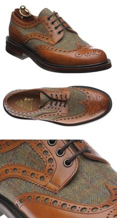 Herring Two Tone Brogue Shoes
