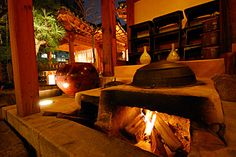 Hanok outdoor stove/kitchen