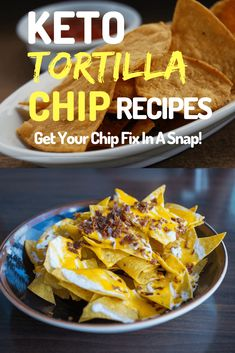 3 Keto Low-Carb Tortilla Chip Recipes: Get Your Chip Fix In A Snap! I know how difficult it can be looking for keto-friendly chips, so why not make your own and save the hassle buying? You'll love these low-carb tortilla chip recipes! Low Carb Tortilla Chips Recipe, Low Carb Soup Recipes, Mexican Food Recipes, Keto Recipes, Healthy Recipes, Lunch Recipes, Dessert Recipes, Pudding Recipes, Cooker Recipes