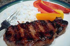 Asian chops INGREDIENTS: 5 Tbsp soy sauce 2 Tbsp Hoisin sauce 1 Tbsp honey 1 Tbsp sugar 1/2 tsp garlic powder 4 boneless pork chops