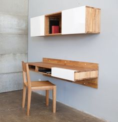 Lax Wall-Mounted Desk - Shelter #Tip #TipOrSkip #TopTips #home decor #design #furniture #modern