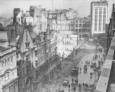 he western end of New Street in Birmingham, UK in April 1941 after Luftwaffe bombing