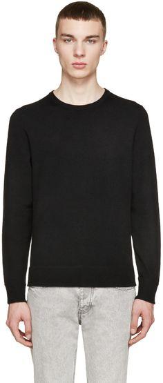 Rag & Bone - Black & Grey Merino Nathan Sweater