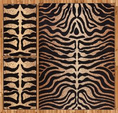Royal Court 3 Piece Black/Brown Area Rug Set
