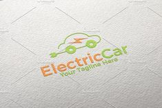Electric Car | Logo Template by REDVY on @creativemarket