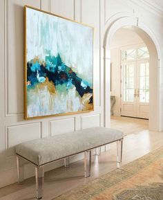 Large Original Painting Hand Made Abstract Art by ObaidAbstractArt #abstractart