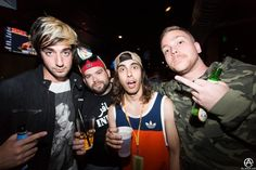 Vic Fuentes with Jack Barakat of All Time Low and crew c: