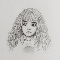 Hermione sketch by miloutjexdrawing…. on - Hermione sketch by miloutjexdrawing on DeviantArt Harry Potter Kunst, Harry Potter Sketch, Arte Do Harry Potter, Harry Potter Painting, Harry Potter Artwork, Harry Potter Drawings, Harry Potter Images, Harry Potter Anime, Harry Potter Wallpaper