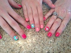 Polished Nail Salon locations are  offering special Oklahoma nail art. Art for one nail is $3. Art on two nails is $5. All proceeds from the nail art will be donated to tornado relief efforts. Photo provided. #OKStrong