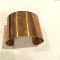 Heather Belle Niki Cuff Bracelet Heather Belle Niki Cuff Bracelet, polished brass, used condition Heather Belle Jewelry Bracelets