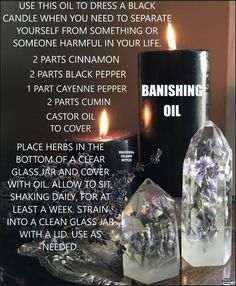 Wiccan Witch, Magick, Witchcraft, Glass Jars, Candle Jars, Protection Spells, Sea Witch, Black Candles, Castor Oil