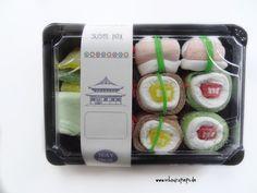 Das süße Sushi ist multifunktional einsetzbar: Als Gutschein oder süße Überraschung von schnurzpieps auf DaWanda.com