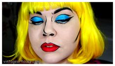 Pop Art Painting Tutorial Comic Books Ideas For 2019 Pop Art Kostüm, Pop Art Girl, Halloween Looks, Halloween Makeup, Halloween Ideas, Halloween Costumes, Halloween Decorations, Nyx Face Awards, Superhero Makeup