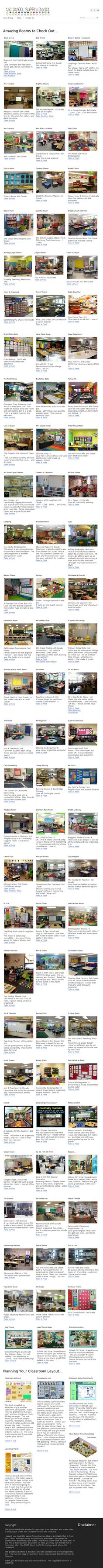 Here are some great classroom set-up ideas for the school year!  Perfect for elementary and middle grades