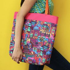 MONUMENT PATTERN TOTE BAG - BAGS AND WALLETS :: Chumbak