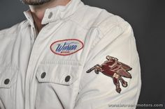Fabric Jacket Flying Horse Off-white