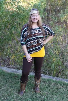 Black/Teal Aztec Print Shirt is sure to turn heads! – Wear Us Out Boutique