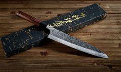 """The beautiful Shizuku Gyuto 8.25"""" knife. #japanese #knife #cooking"""