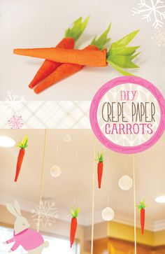 DIY Tutorial: Crepe Paper Carrots // Hostess with the Mostess®