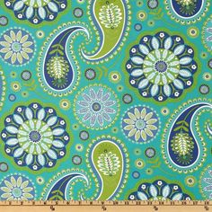 Michael Miller's Moon Gypsy Paisley in Aqua