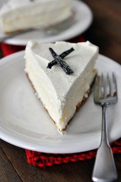 Vanilla Bean White Chocolate Mousse Cheesecake Recipe ~ Best. Cheesecake. Ever.