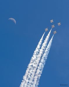 I captured the Thunderbirds and the moon yesterday