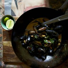 Mussels cooked in beer with chilli jam recipe - Woman And Home
